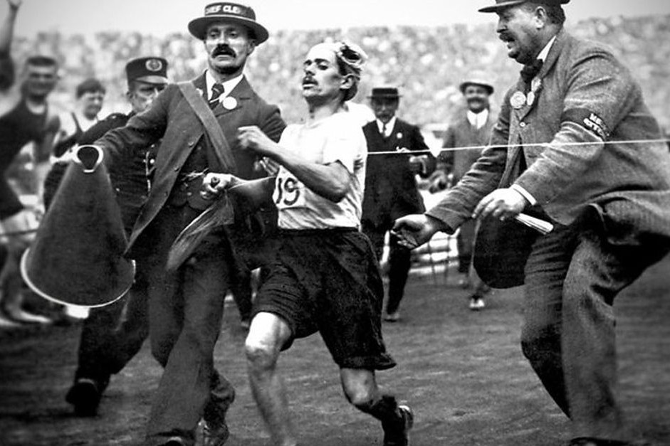 The story of the athlete Dorando Pietri and San Remo